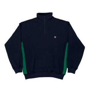 Quarter Zip Mock Neck - Navy/Green