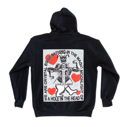 The Namaste A Crystal Egg Hoodie - Black