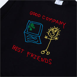 Best Friends Crewneck - Black / Multi