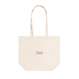 Vibrations Tote Bag - Natural / Purple