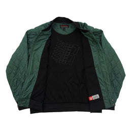 Quilted Bomber Vest - Pine