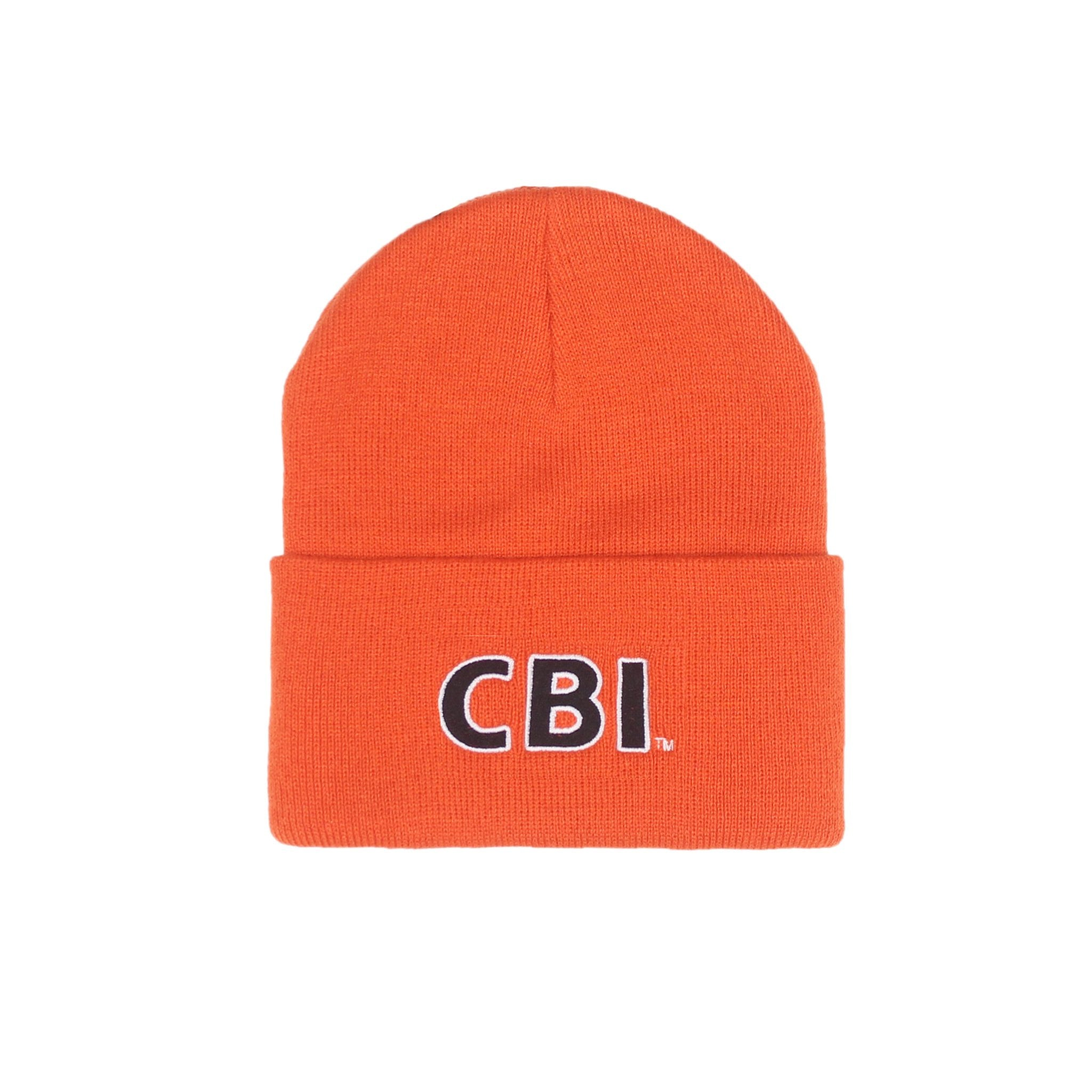 Straight Letter Watchtower Beanie - Orange