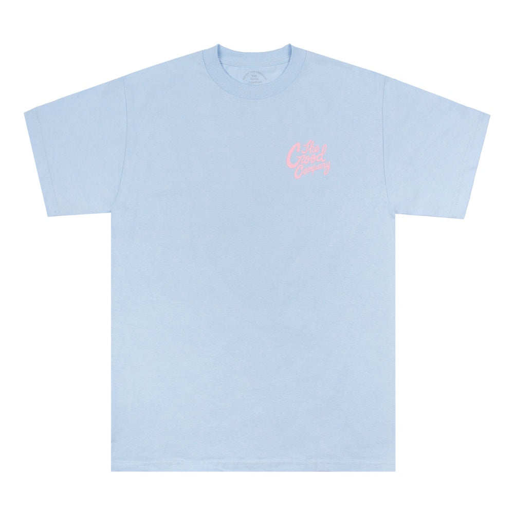 Good Time Tee - Powder Blue/Light Pink