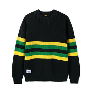 Moor Sweater - Black/Yellow/Green