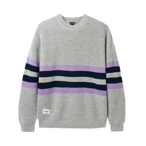 Moor Sweater - Grey/Mauve/Navy