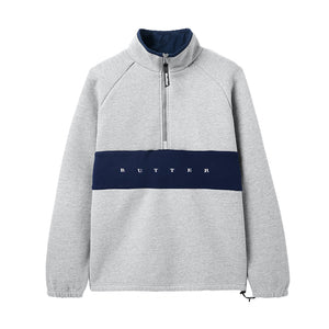 Hampshire 1/4 Zip Pullover - Heather Grey/Navy