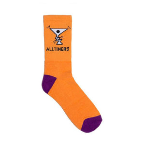 Action Logo Socks - Peach/Navy