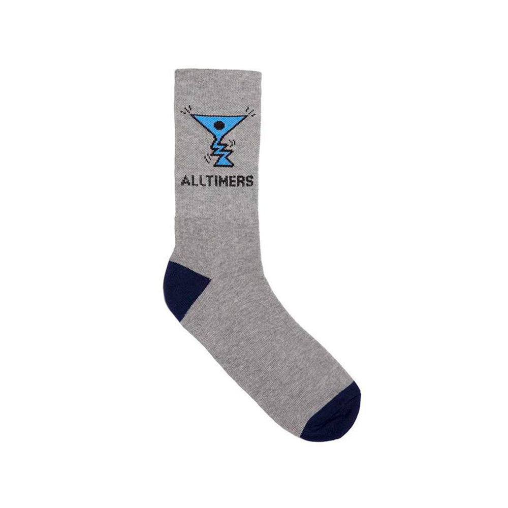 Action Logo Socks - Grey/Navy