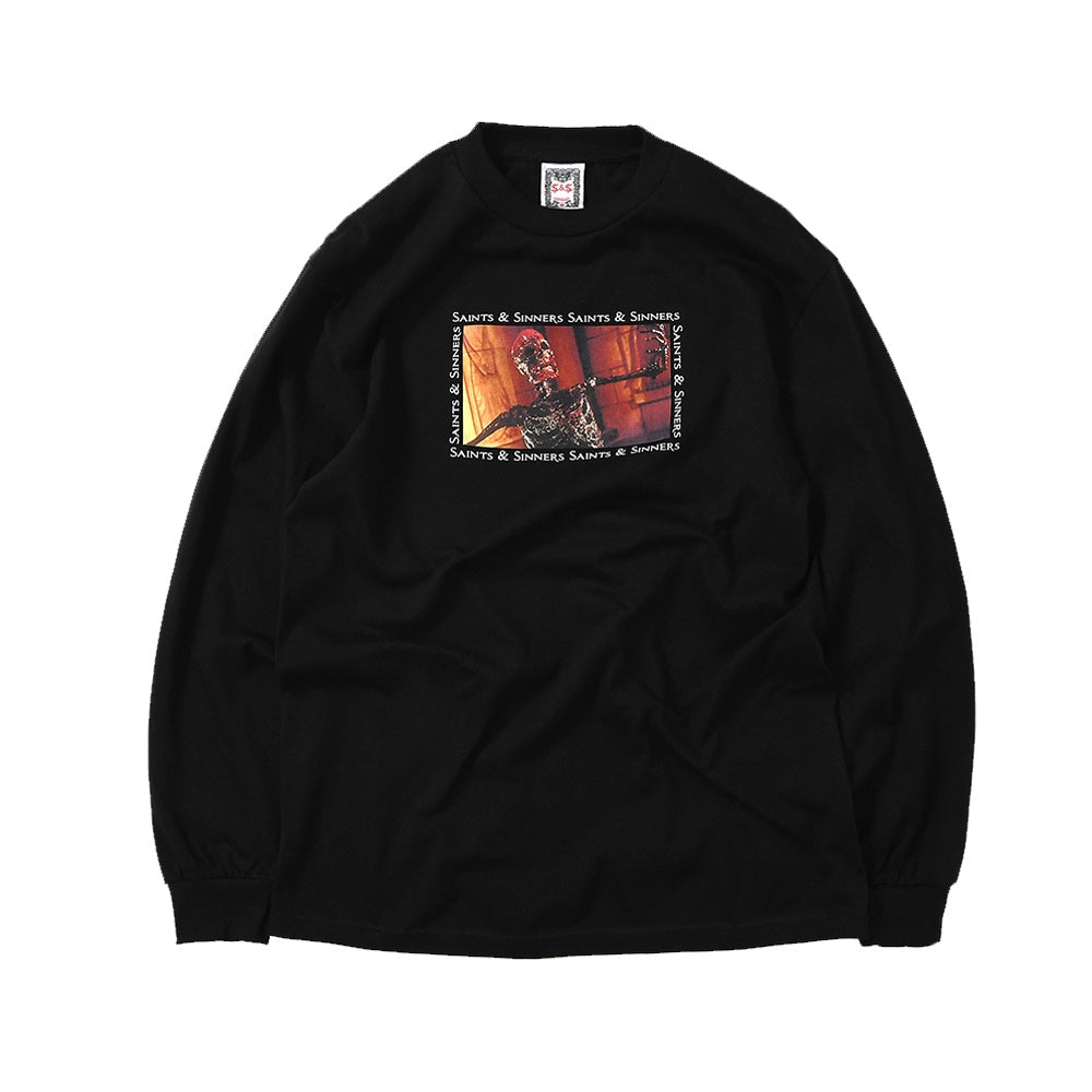 Skeleton Long Sleeve Tee - Black