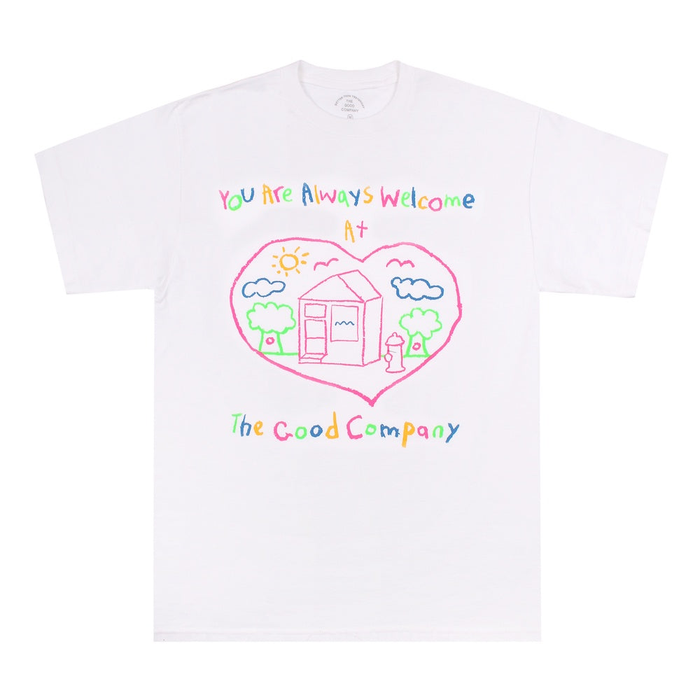 Welcome Tee - White/Multicolour