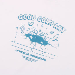 Up Tee - White/Columbia Blue