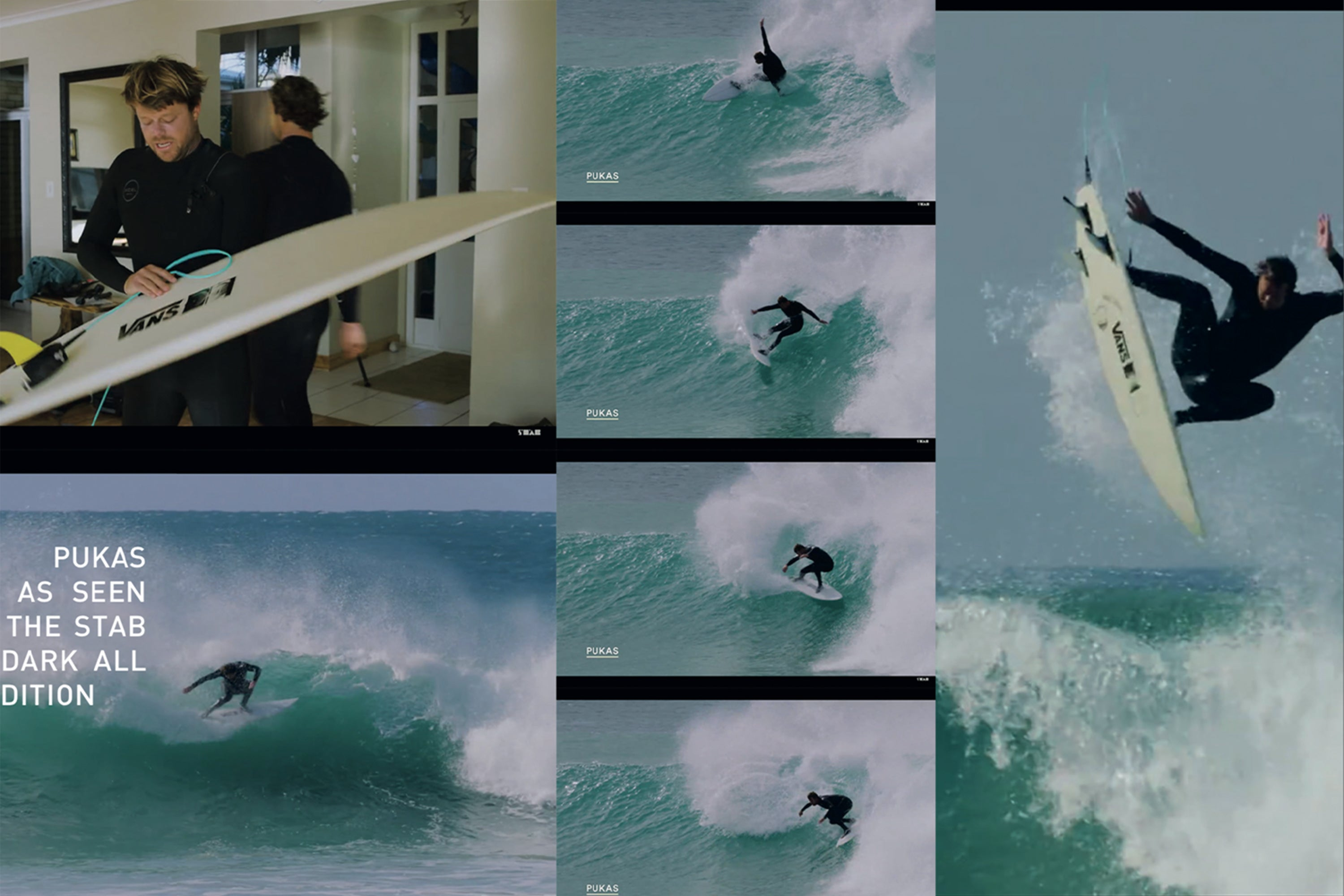 Pukas Darker as seen in Stab in the Dark All Stars Edition with Dane Reynolds and Jordy Smith