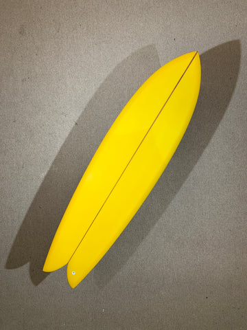 "Chris Christenson Surfboard - LONG FIHS by Chris Christenson - 6'10"" x 21 3/4 x 2 11/16 - CX01266"