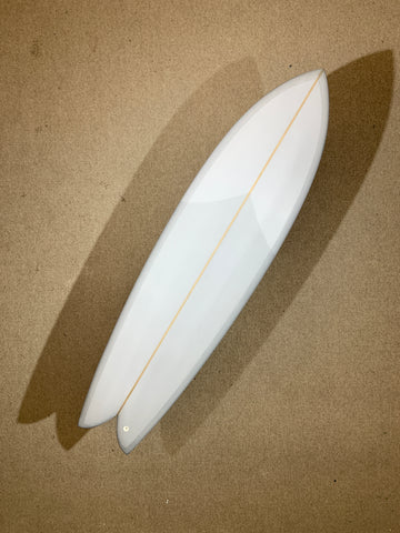 "Chris Christenson Surfboard - LONG FIHS by Chris Christenson - 6'10"" x 21 3/4 x 2 11/16 - CX01264"
