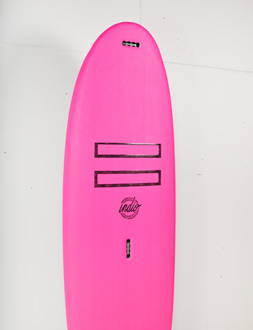 "Pukas Surf Shop - Indio Softboards - EASY RIDER Pink - 7´0"" x 25 3/8  x 3 7/8 - 85L w/nose handle"