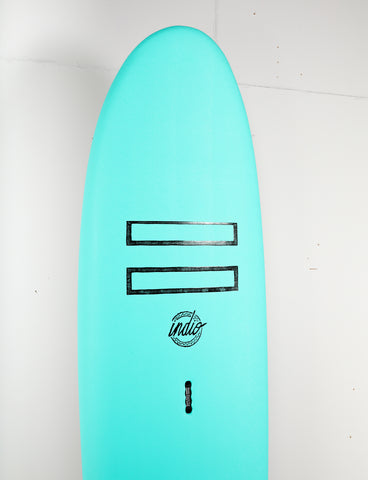 "Pukas Surf Shop - Indio Softboards - EASY RIDER Turquoise - 7´0"" x 25 3/8  x 3 7/8 - 85L"