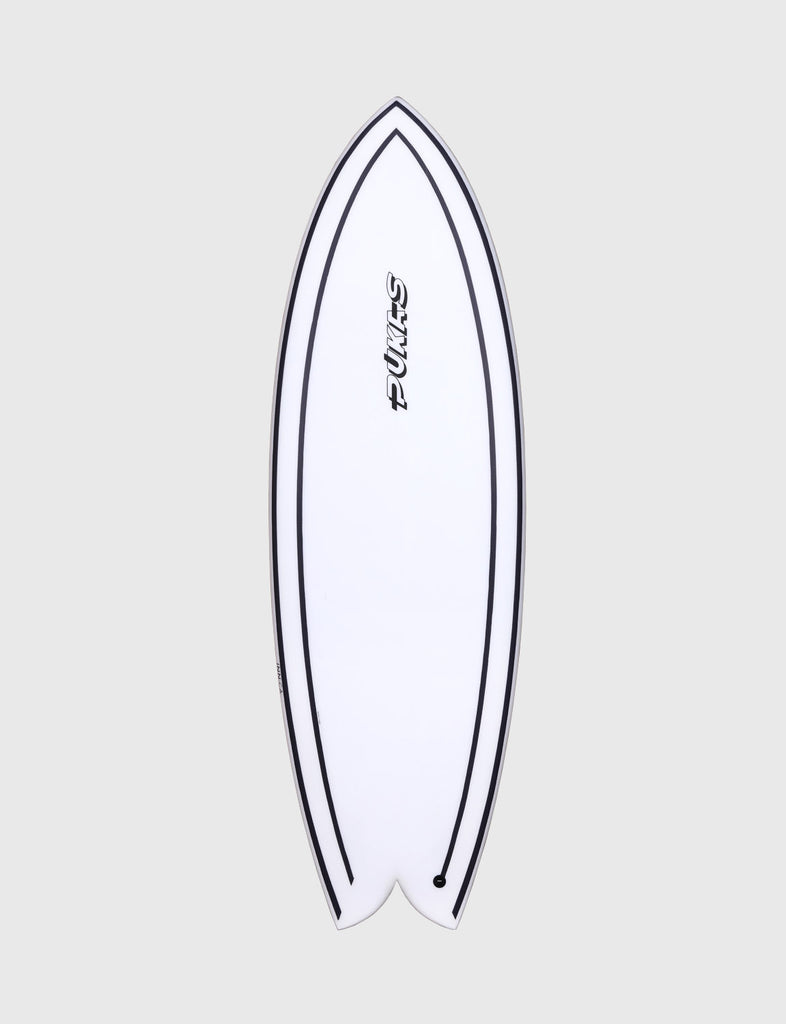"Pukas Surfboard - INNCA Tech - WOMBI FISH by Eye Symmetry - 5'10"" x 21 3/4 x 2 7/16 x 35.40L"