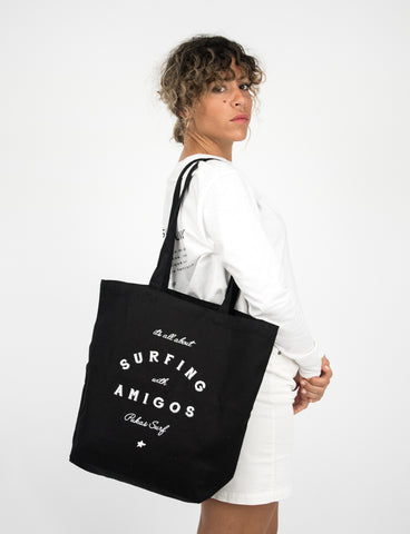 SURFING WITH AMIGOS Tote bag