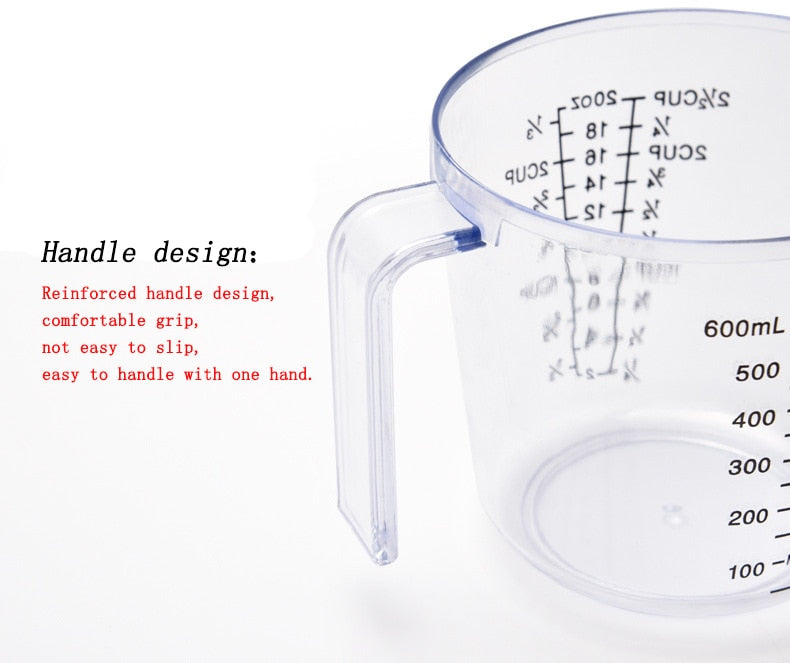 150/300/600ml High Quality Plastic Measuring Cup