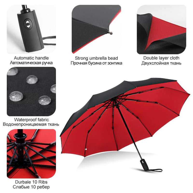 Windproof Automatic Double Umbrella
