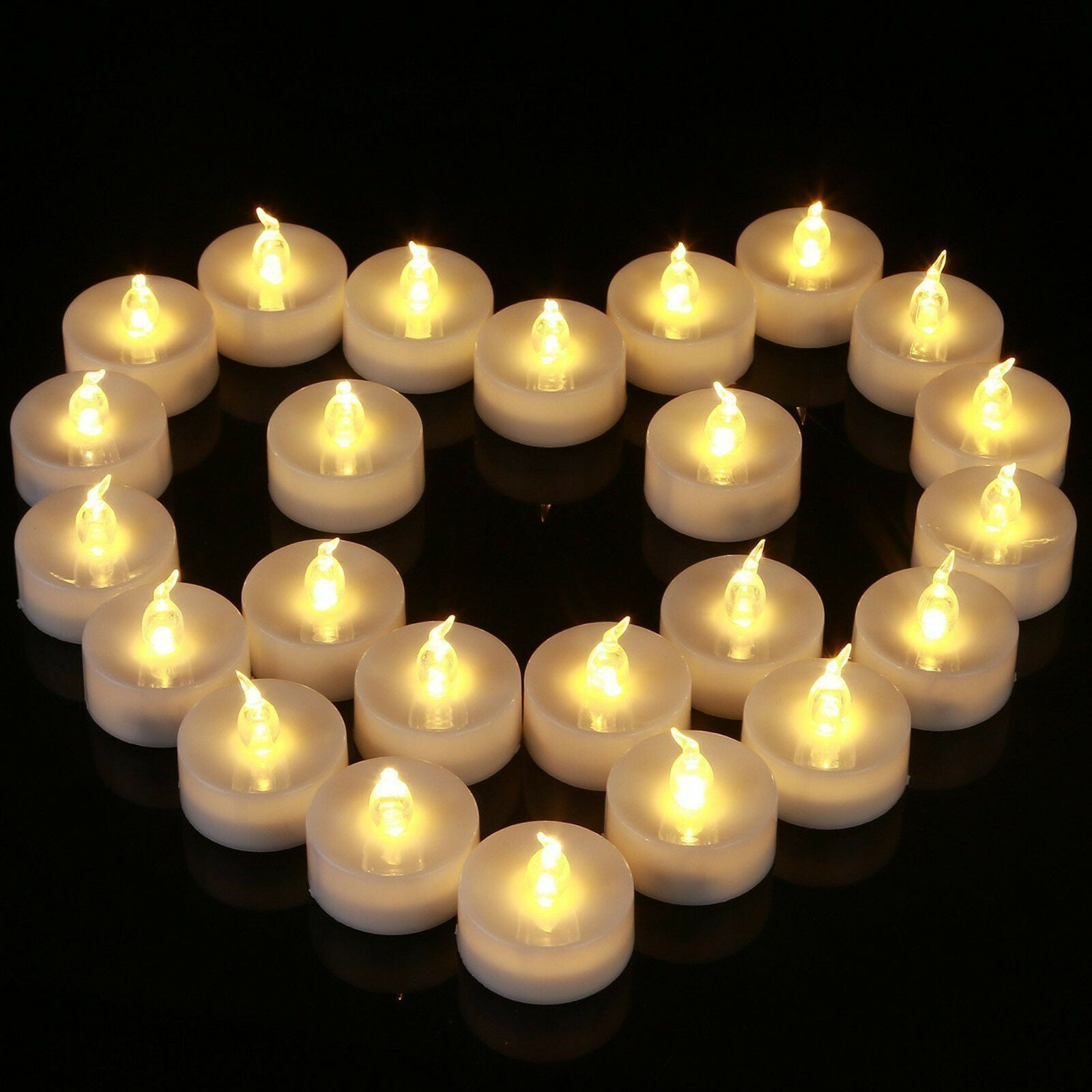 12Pcs Battery Operated LED Tea Lights Candles Flameless Flickering