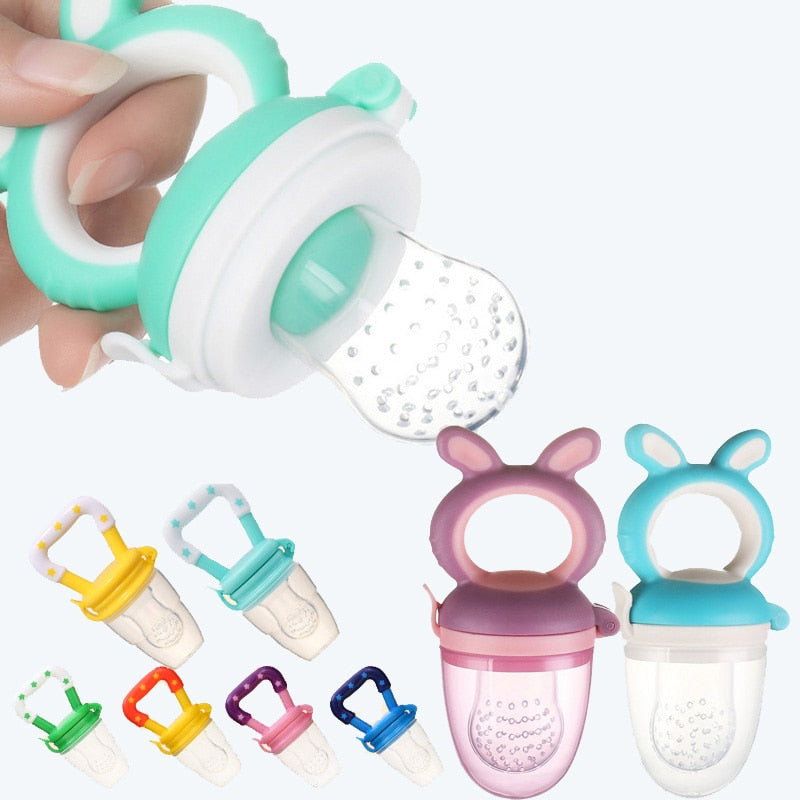 2-in-1 Baby Fruit Feeder Pacifier and Teething Toy (100% SAFE FOR BABIES)