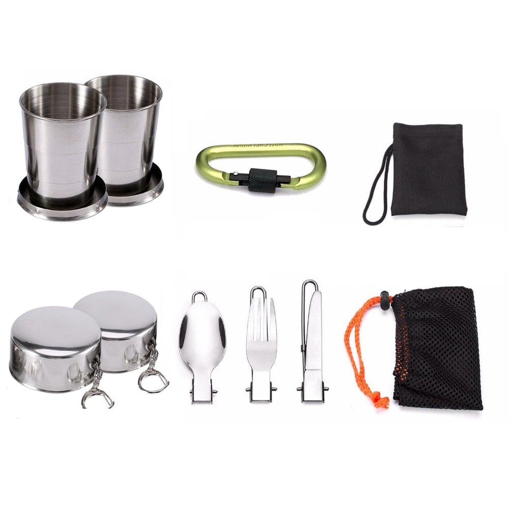 Camping Cookware Picnic Set | Non-Stick Tableware