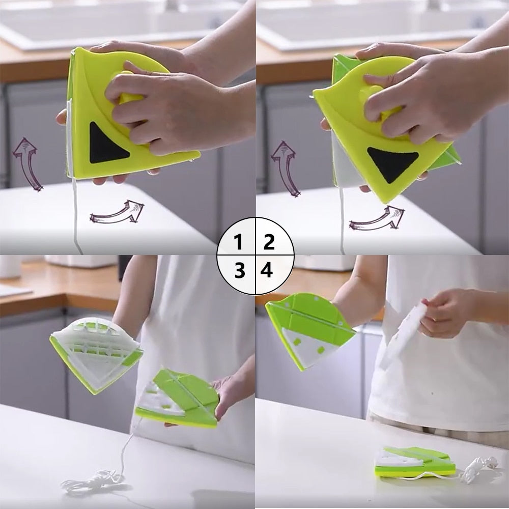 Double-Sided Magnetic Window Cleaner for Washing Window Cleaning Tools