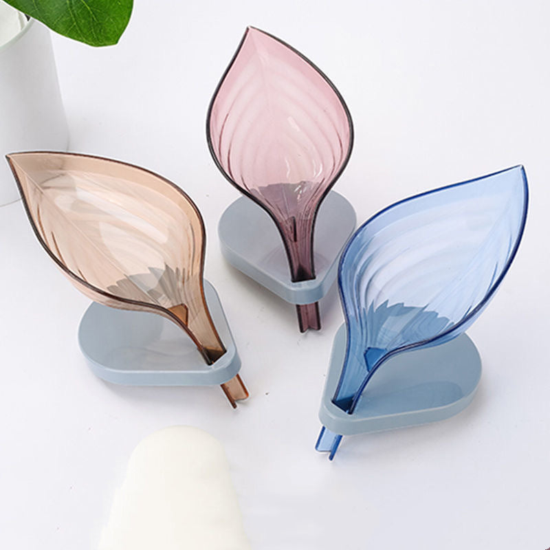 Leaf Shape Soap Drainer Box