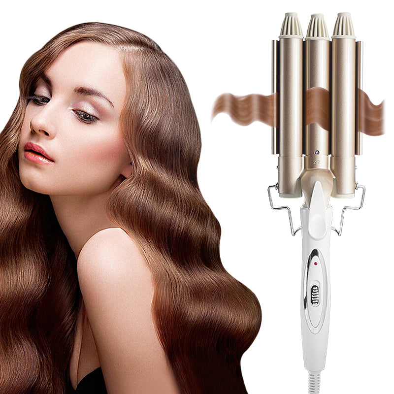 Professional Curling Iron Ceramic | Triple Barrel Hair Style Waver