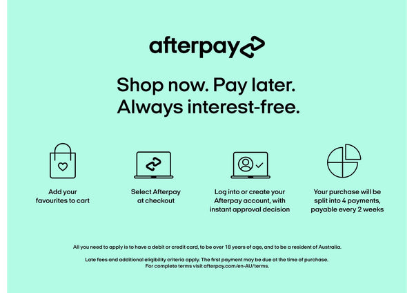 afterpay is offered by living green decor