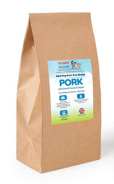 Grain Free Adult Dog Pork With Sweet Potato & Apple