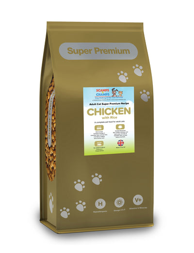 Super Premium Cat Food – Adult cat Chicken With Rice