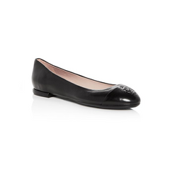 Taryn Rose Rosa Leather Cap Toe Ballet Flats