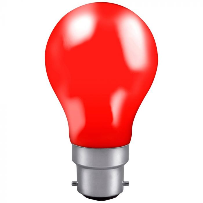 GLS 25W BC RED Incandescent Light Bulb