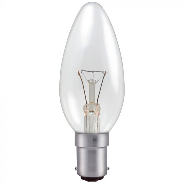 Candle 25w SBC Clear Incandescent Light Bulb