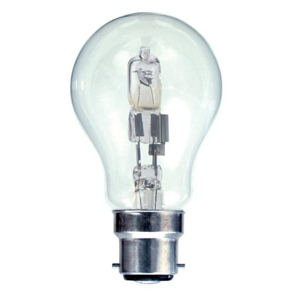 Halogen GLS 42w BC Clear Halogen Light Bulb