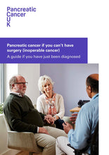 Load image into Gallery viewer, Newly Diagnosed Pack: Information if you can't have surgery to remove pancreatic cancer (inoperable cancer)