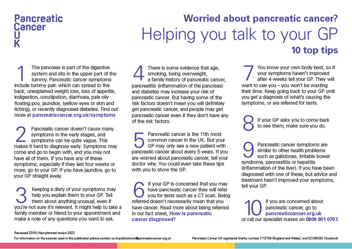 10 Top Tips: Helping you talk to your GP