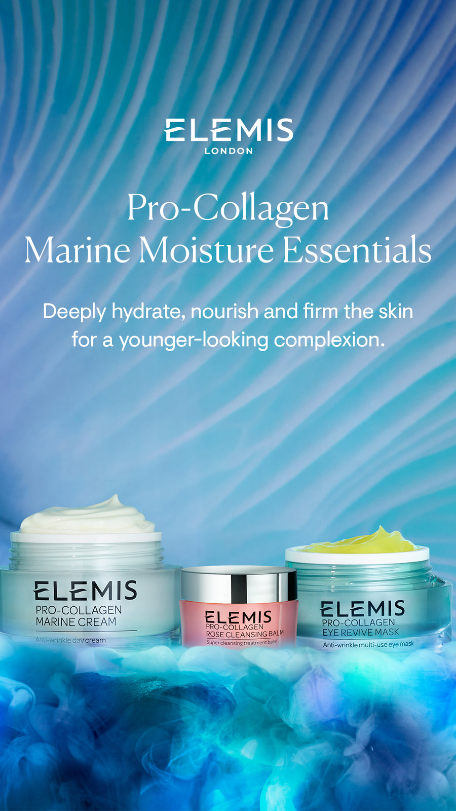 Elemis Pro-Collagen Marine Moisture Essentials Worth £116 Now only £79.