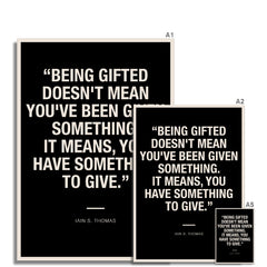 Bloc | Being gifted | cl0 Fine Art Print