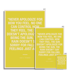 Bloc | Never apologize | cl7 Fine Art Print