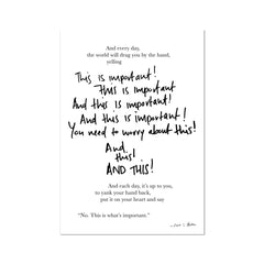 Poetry | This is Important Fine Art Print