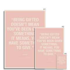 Bloc | Being gifted | cl10 Fine Art Print