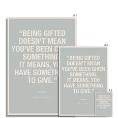 Bloc | Being gifted | cl2 Fine Art Print