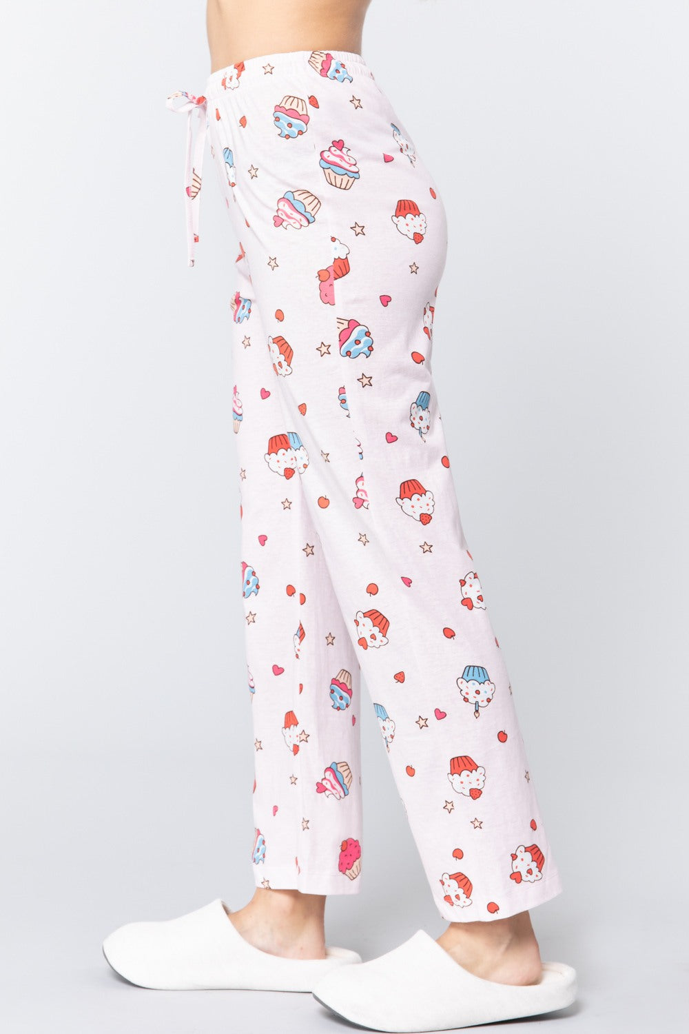 Cupcake Print Cotton Lounge Pajama Pants