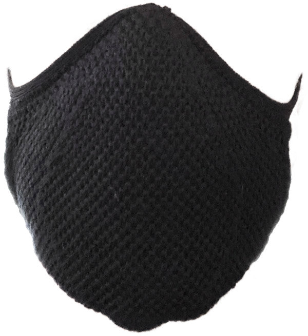Organic mouth and nose mask reusable with rubber (black coarse)