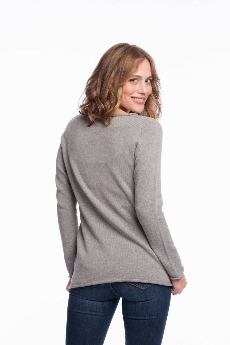Seamless Bio Cotton Jumper | Lightgrey
