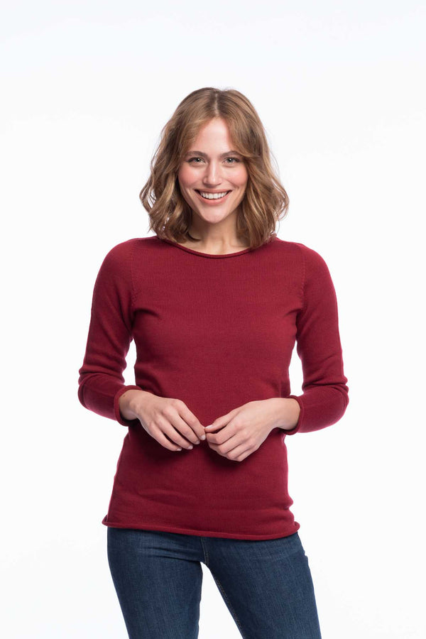 Seamless Organic Cotton Jumper | Rubyred