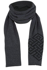 Merino scarf Black & Gray